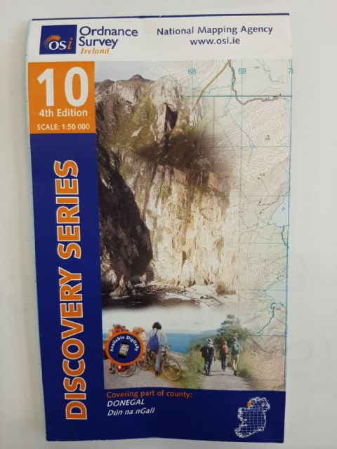 OS Discovery Sheet 10 Donegal - South West 1:50 000 scale - Full Colour